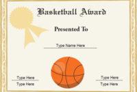 10 Basketball Sports Certificates | Certificate Templates inside Unique 10 Sportsmanship Certificate Templates Free