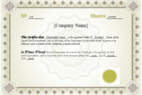 10 Best Free Stock Certificate Templates (Word, Pdf) with Unique Editable Stock Certificate Template