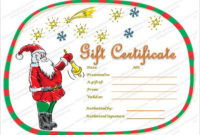 10+ Christmas Gift Templates | Word, Excel & Pdf Templates with regard to Holiday Gift Certificate Template Free 10 Designs