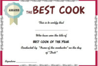 10 Cook Certificate Templates: Appreciate Culinary/Baking throughout Unique Cooking Competition Certificate Templates