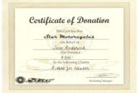 10+ Donation Certificate Templates | Free Printable Word regarding Best Donation Certificate Template Free 14 Awards