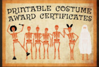 10 Free Costume Award Certificates! [Printables with regard to Best Halloween Costume Certificates 7 Ideas Free