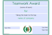 10 Free Efficiency Award Certificate Templates – Ms Office Guru with regard to Free Teamwork Certificate Templates