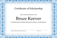 10+ Free Scholarship Award Certificate Templates (Word | Pdf) regarding 10 Scholarship Award Certificate Editable Templates