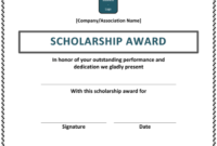 10+ Free Scholarship Award Certificate Templates (Word | Pdf) with Fresh 10 Scholarship Award Certificate Editable Templates