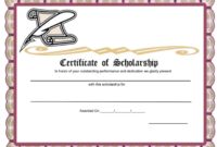 10+ Free Scholarship Award Certificate Templates (Word | Pdf) with regard to Fresh 10 Scholarship Award Certificate Editable Templates