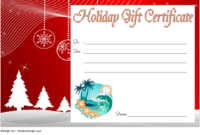 10+ Holiday Gift Certificate Template Free Ideas intended for Fresh Holiday Gift Certificate Template Free 10 Designs
