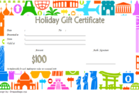 10+ Holiday Gift Certificate Template Free Ideas pertaining to Fresh Holiday Gift Certificate Template Free 10 Designs