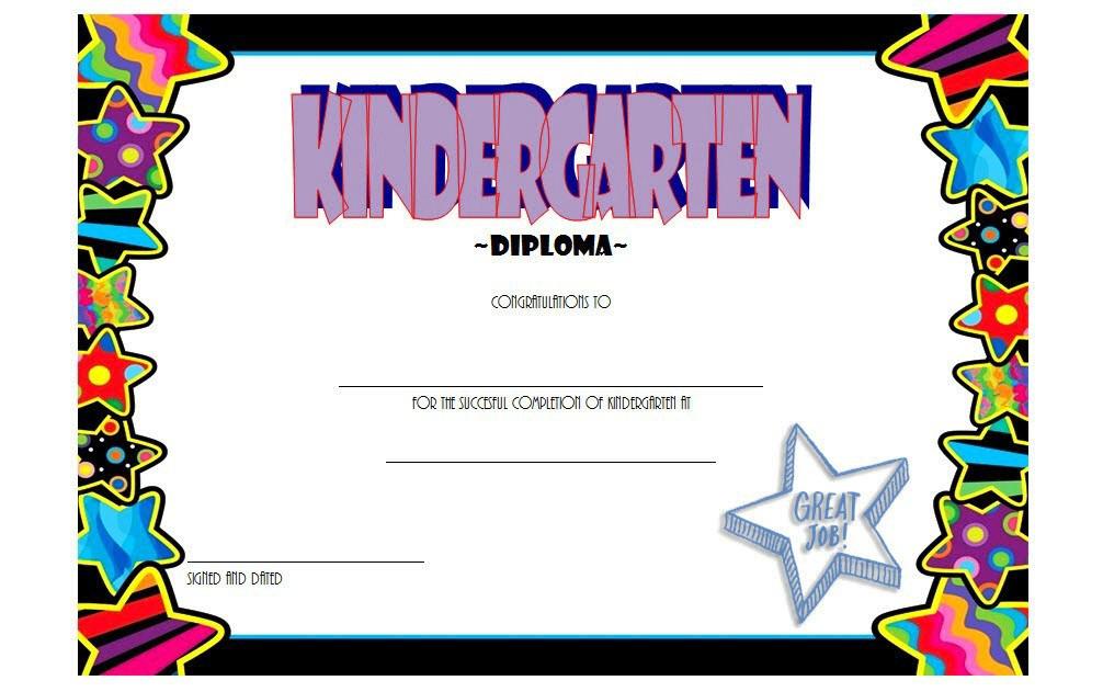 10+ Kindergarten Completion Certificate Printables Free In 10 Kindergarten Diploma Certificate Templates Free