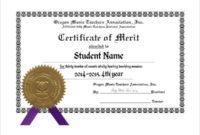 10+ Merit Certificate Templates | Free Printable Word & Pdf throughout Fresh Merit Award Certificate Templates