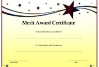 10+ Merit Certificate Templates | Word, Excel & Pdf intended for Best Merit Certificate Templates Free 10 Award Ideas