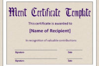 10+ Merit Certificate Templates | Word, Excel & Pdf pertaining to Best Merit Certificate Templates Free 10 Award Ideas