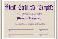 10+ Merit Certificate Templates | Word, Excel & Pdf within Merit Award Certificate Templates