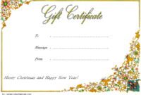 10+ Merry Christmas Gift Certificate Template Free Ideas within Happy New Year Certificate Template Free 2019 Ideas