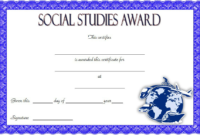 10+ Social Studies Certificate Templates Free Download in Best Social Studies Certificate Templates