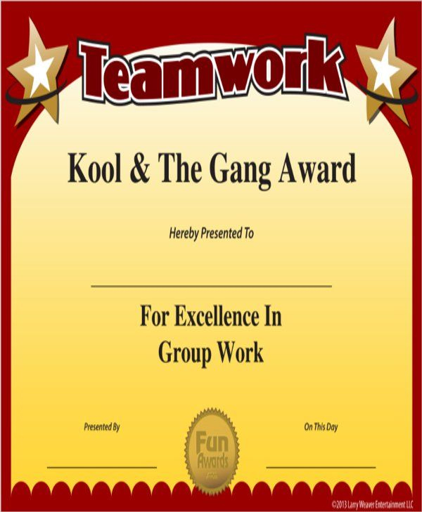 10+ Team Certificate Templates | Free Printable Word & Pdf With Free Teamwork Certificate Templates 10 Team Awards