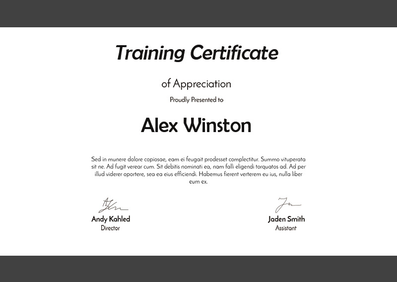 10+ Training Certificate Template Psd Free Download Inside Dog Training Certificate Template Free 10 Best