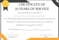 10 Years Service Award Certificate: 10 Templates To Honor inside Best Merit Certificate Templates Free 10 Award Ideas