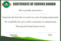 10 Years Service Award Certificate: 10 Templates To Honor throughout Congratulations Certificate Template 10 Awards