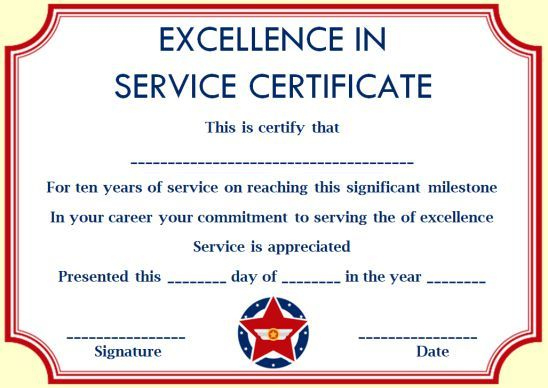 10 Years Service Award Certificate: 10 Templates To Honor With Regard To Happy New Year Certificate Template Free 2019 Ideas