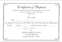 100+ Certificate Templates Ideas In 2020   Certificate inside Baptism Certificate Template Word 9 Fresh Ideas