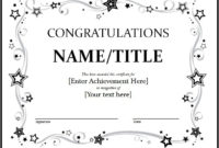 11+ Congratulation Certificate Templates | Free Word & Pdf in Fresh Congratulations Certificate Templates