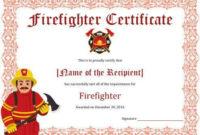 11+ Firefighter Certificate Templates | Free Printable Word for Fresh Bravery Certificate Template 10 Funny Ideas