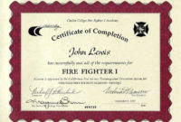 11+ Firefighter Certificate Templates | Free Printable Word in Firefighter Training Certificate Template