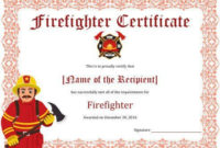 11+ Firefighter Certificate Templates | Free Printable Word Regarding Firefighter Certificate Template Ideas