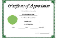 11 Free Appreciation Certificate Templates – Word Templates inside Fresh Certificate Of Recognition Template Word