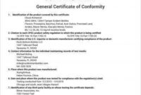 11+ General Certificate Of Conformity Examples – Pdf, Word intended for Best Conformity Certificate Template
