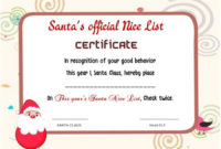 11 Naughty Or Nice Certificates (Fun And Exciting From Santa inside Santas Nice List Certificate Template Free