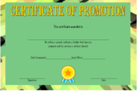 12+ Certificate Of Promotion Templates Free Download throughout Fresh Free Printable Certificate Of Promotion 12 Designs