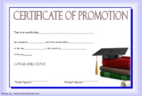 12+ Certificate Of Promotion Templates Free Download throughout Unique School Promotion Certificate Template 10 New Designs Free