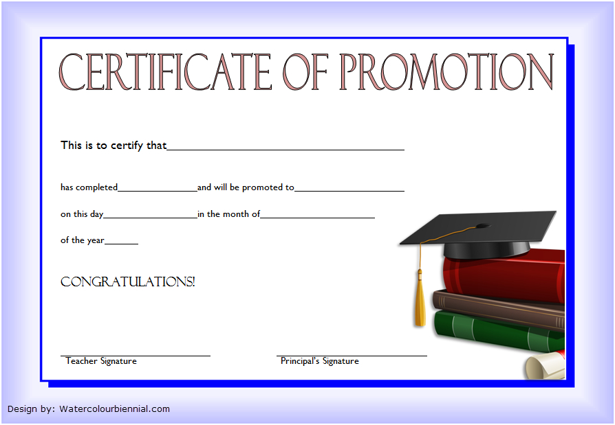 12+ Certificate Of Promotion Templates Free Download within Free Printable Certificate Of Promotion 12 Designs