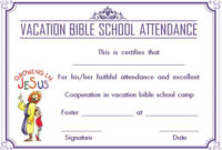 12+ Vbs Certificate Templates For Students Of Bible School inside Best Printable Vbs Certificates Free