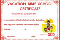 12+ Vbs Certificate Templates For Students Of Bible School intended for Best Vbs Attendance Certificate Template