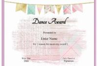 13+ Dance Certificate Templates | Free Word & Pdf Samples for Fresh Hip Hop Dance Certificate Templates