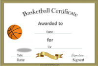 13 Free Sample Basketball Certificate Templates – Printable intended for Basketball Gift Certificate Template