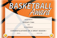 13 Free Sample Basketball Certificate Templates – Printable intended for Best Basketball Certificate Template