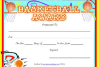 13 Free Sample Basketball Certificate Templates – Printable throughout Fresh Basketball Certificate Templates