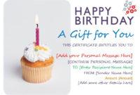 13 Free Sample Birthday Gift Certificate Templates with regard to Fresh Happy Birthday Gift Certificate