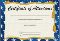 13 Free Sample Perfect Attendance Certificate Templates with regard to Printable Perfect Attendance Certificate Template