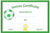 13 Free Sample Soccer Certificate Templates – Printable Samples for Fresh Soccer Certificate Template Free