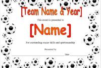 13 Free Sample Soccer Certificate Templates – Printable Samples intended for Unique 10 Sportsmanship Certificate Templates Free
