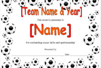 13 Free Sample Soccer Certificate Templates – Printable Samples regarding Soccer Certificate Template Free