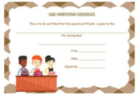 14+ Cake Competition Certificates For Bake-Off & Cake for Bake Off Certificate Templates