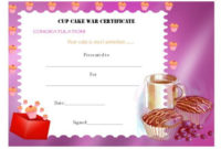 14+ Cake Competition Certificates For Bake-Off & Cake with regard to Bake Off Certificate Templates