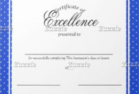 14+ Certificate Of Excellence Templates | Free Printable regarding Baseball Certificate Template Free 14 Award Designs