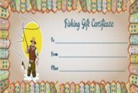 14 Free Printable Fishing Gift Certificate Templates [Best inside Fishing Gift Certificate Editable Templates